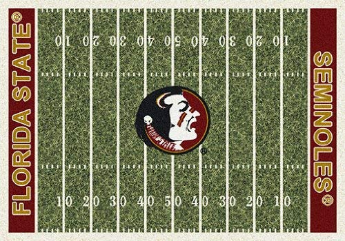 Milliken 4000018603 Florida State College Home Field Area Rug, 5'4