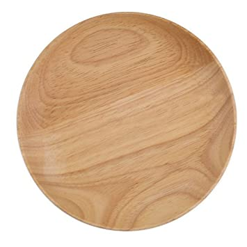 Miraclekoo Small Wooden Serving Plate Rubberwood Dessert Plates 6 Inch1 Piece  sc 1 st  Amazon.com & Amazon.com   Miraclekoo Small Wooden Serving Plate Rubberwood ...
