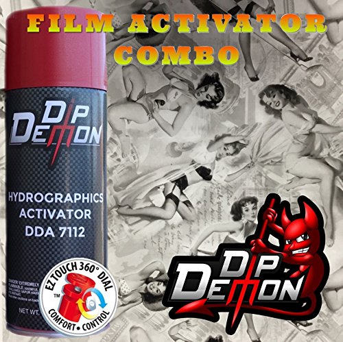 Combo Kit Pin Up Girls Hydrographic Water Transfer Film Activator Combo Kit Hydro Dipping Dip Demon ()