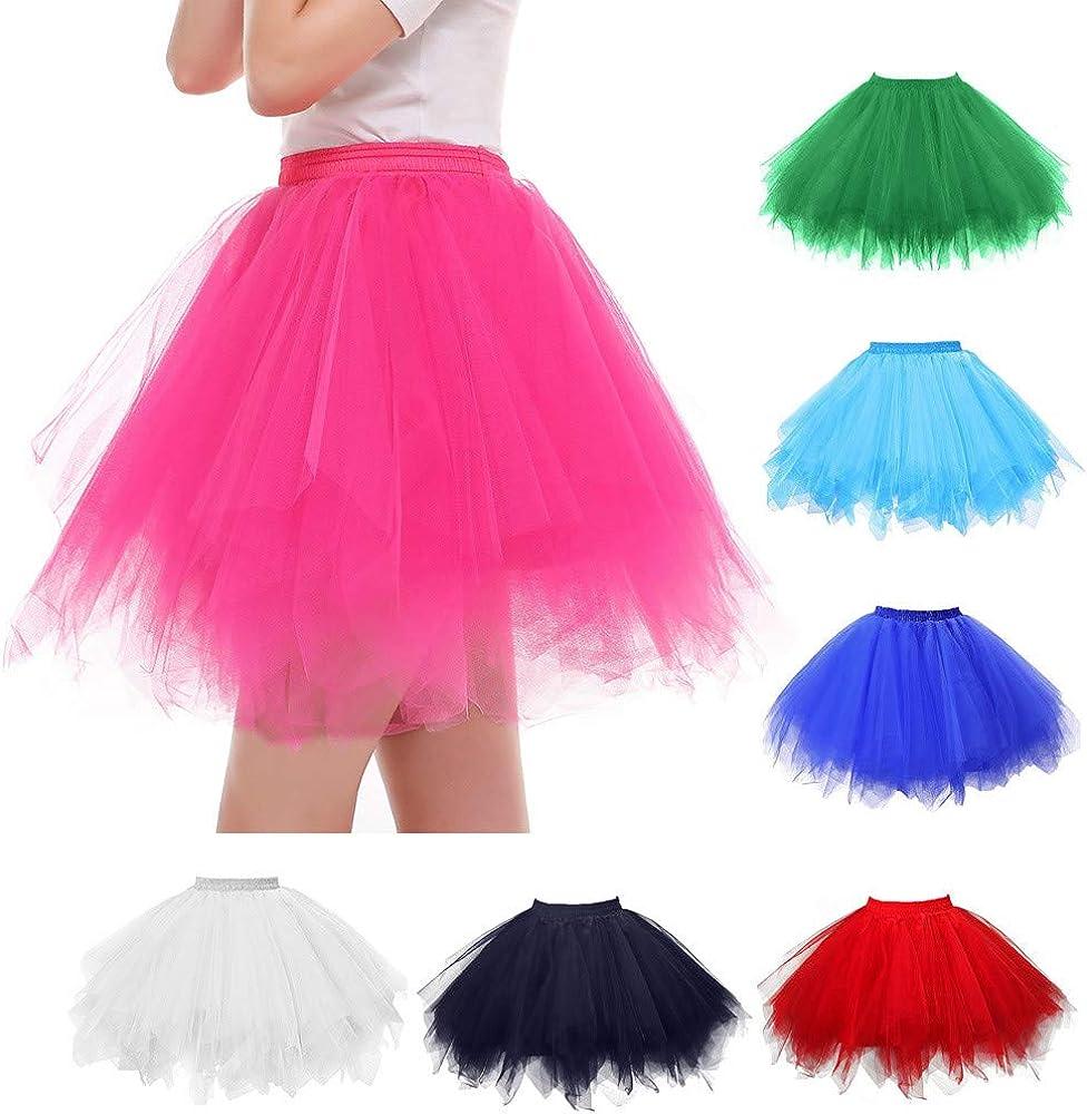 LOPILY Mini Falda de Tul para Mujer de Lapiliy, para Carnaval ...