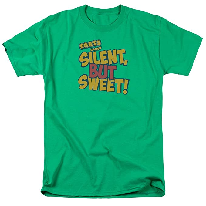 Trevco Men's Farts Candy Short Sleeve T-Shirt, Kelly Green, XX-Large