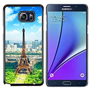 EJOOY---Cubierta de la caja de protección para la piel dura ** Samsung Galaxy Note 5 5th N9200 ** --Torre Eiffel de París