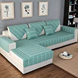 OstepDecor Pet Dog Couch Cotton Quilted Chequer Furniture Protector Cover for Sofa, Loveseat | ONE PIECE | Backing and Armrest Sold Separately, Lake Blue 43'W x 94'L (110 x 240cm)