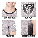 Ultra Game NFL Los Angeles Rams Mens Vintage Ringer Short Sleeve Tee Shirt, Gray, Medium