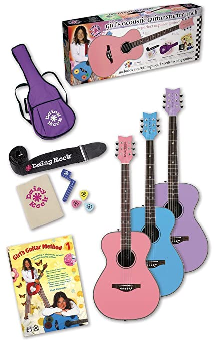 Amazon Daisy Rock Pixie Acoustic Guitar Starter Pack Powder