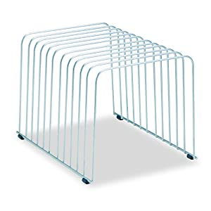 Fellowes Desktop Organizer, 11 Sections, 9 Inch x 11.375 Inch x 8 Inch, Wire, Silver (72012)