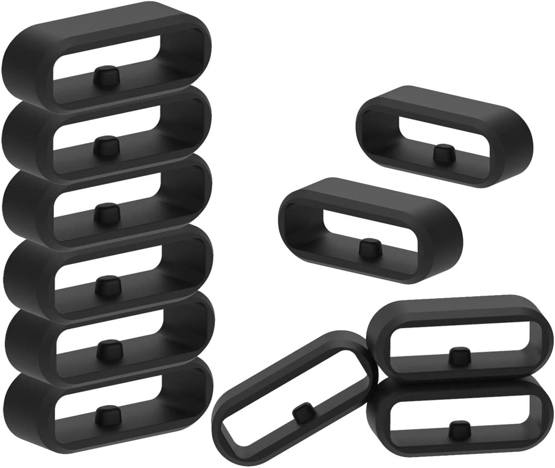 Pack of 10 Fastener Ring for Garmin Fenix 5//5s//5x Series Silicone Security Loop