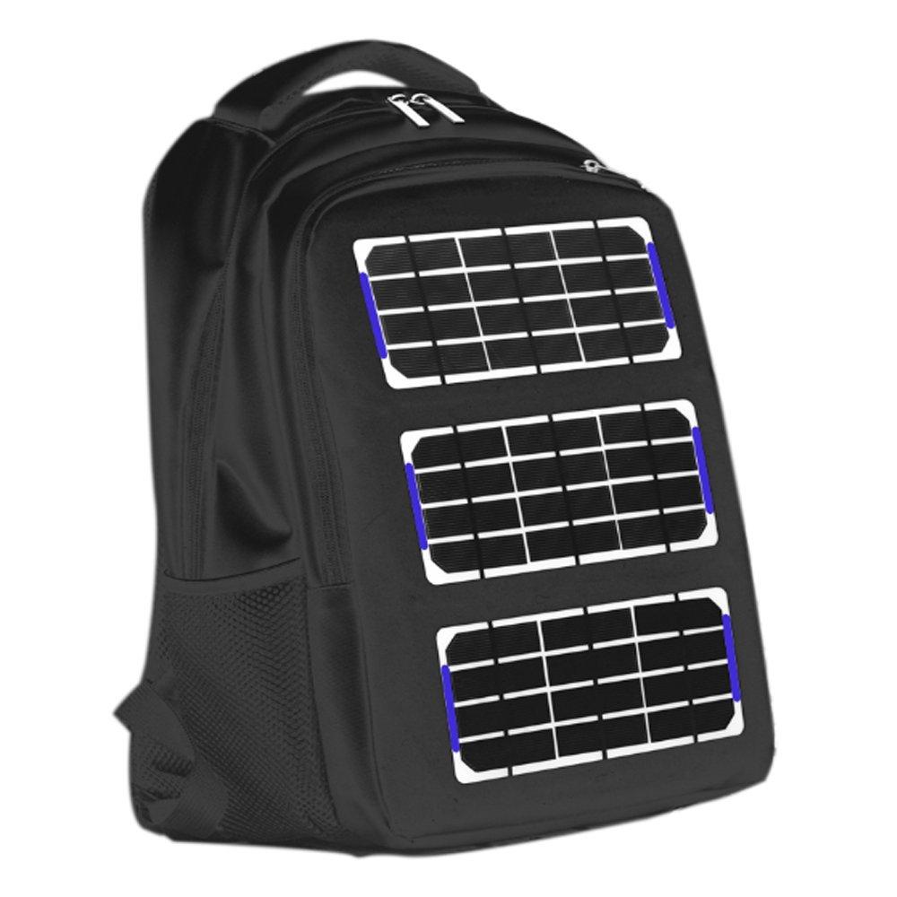Luisvanita Chargeable Solar Energy Black Laptop Backpacks Charge Outdoor Solar Backpack Bag Red and Black by Luisvanita