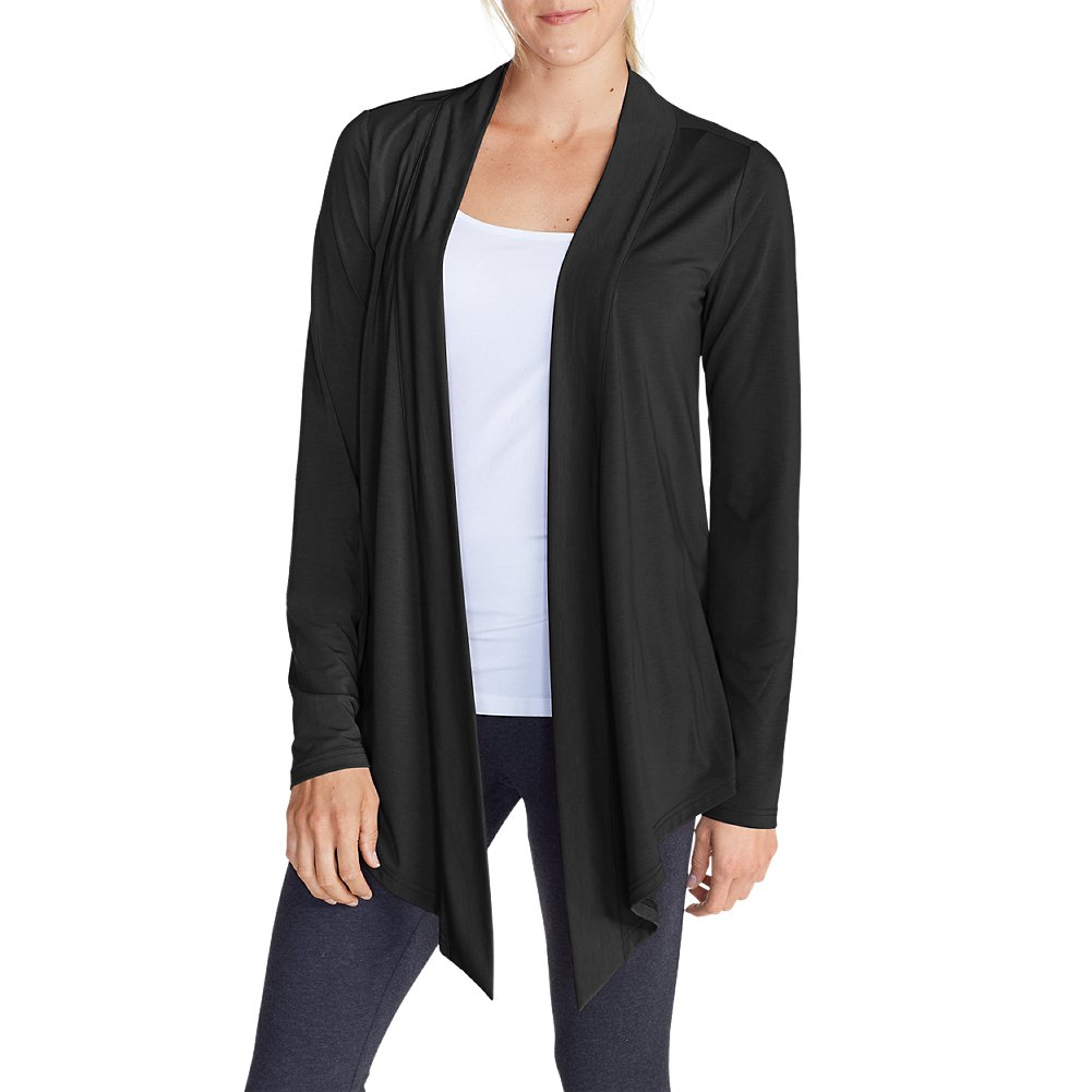 Eddie Bauer Women's Daisy 2.0 Long-Sleeve Wrap - Solid, Black Regular XL