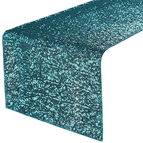 PONY DANCE Glitzy Table Runner - Premium Quality Sparking Sequins Table Runners for Events Christmas/Party/Birthday/Wedding/Banquet Decoration, 14