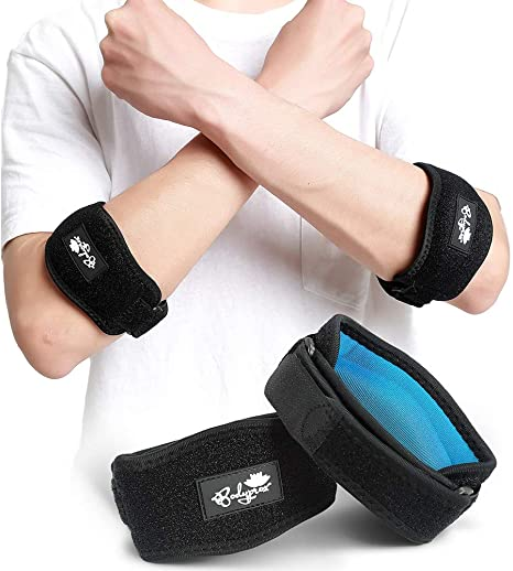 Elbow Brace 2 Pack For Tennis Golfer S Elbow Pain Relief Amazon Co Uk Health Personal Care