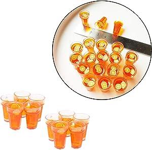 Wixine 10Pcs 1:12 Dollhouse Miniature Food Lemon Tea Cups Doll House Drinks Model Toy