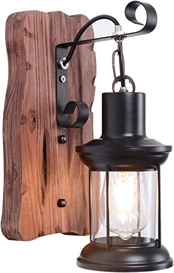 Retro Vintage Outdoor Wall Lamp Lantern Sconce Light Garden Porch Yard Decor