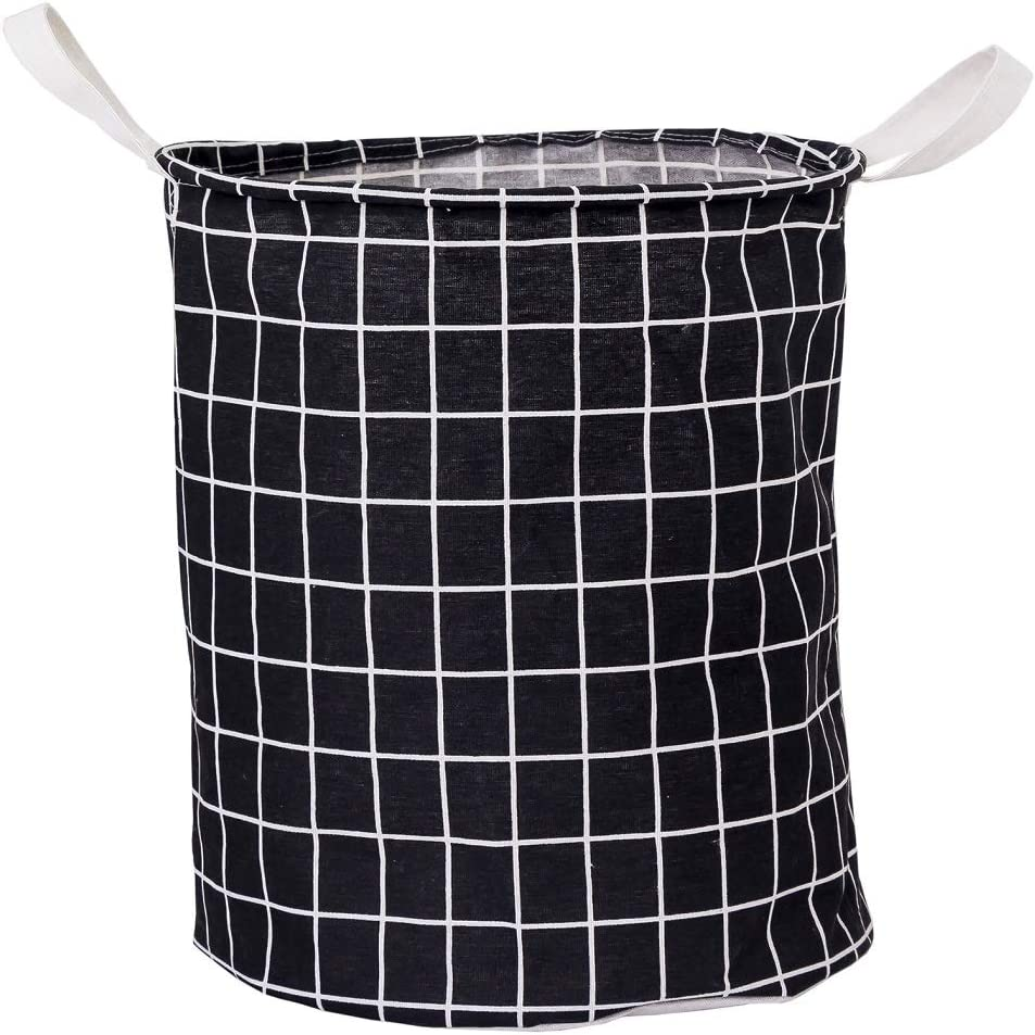 Collapsible Laundry Hamper,Dirty Clothes Basket Foldable,Hanging Bin Household Clothing Toy Storage Organization (Black)