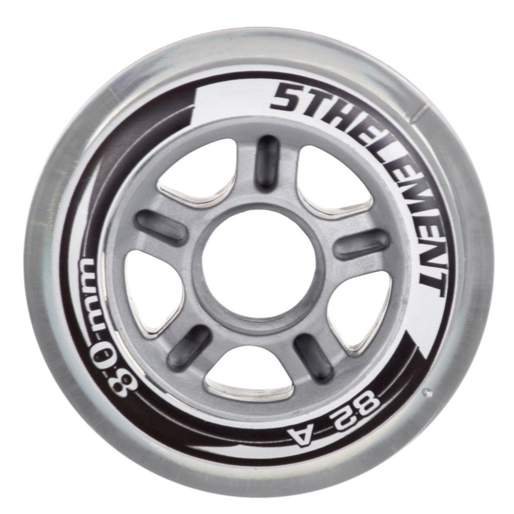 5th Element 8-Pack Performance 80mm Inline Skate Polyurethane Outdoor Replacement Wheels 82A - 80mm by 5th Element