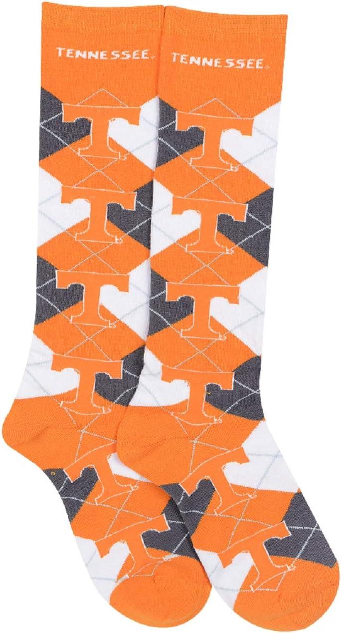 For Bare Feet NCAA Repeat Logo Argyle Knee High Socks-Medium