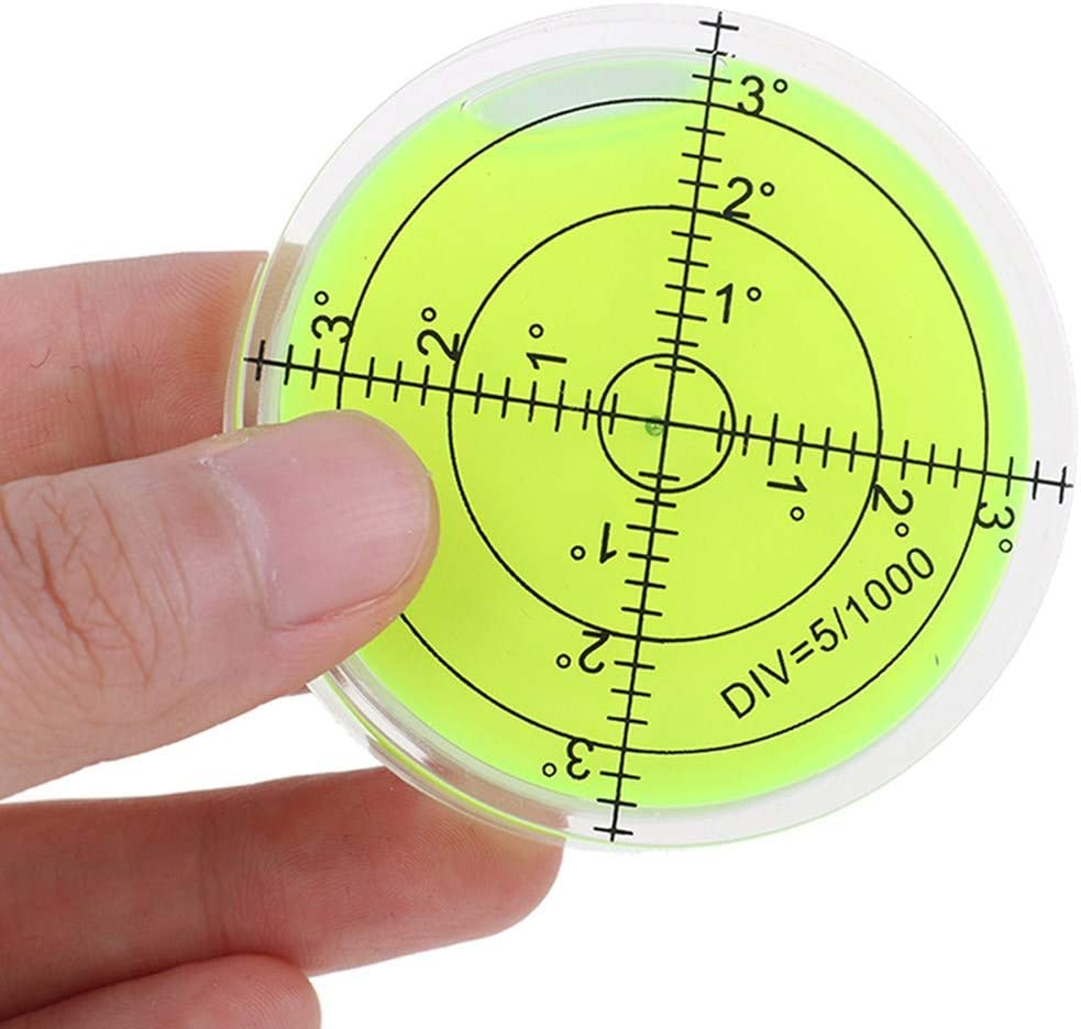 1Pc Bubble Level Measuring Tools Round Bubble Spirit Levels 60x12mm Circular Bullseye Bubble Degree Marked Surface Leveling for Camera Tripod Frame Furniture Measuring Instruments Layout Tools