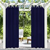 Pro Space Patio Outdoor Curtain UV Privacy Drape Thick Waterproof Fabric Heavy Duty Indoor Panel for Porch Balcony…