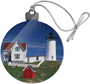 GRAPHICS & MORE Nubble Lighthouse Maine ME Acrylic Christmas Tree Holiday Ornament