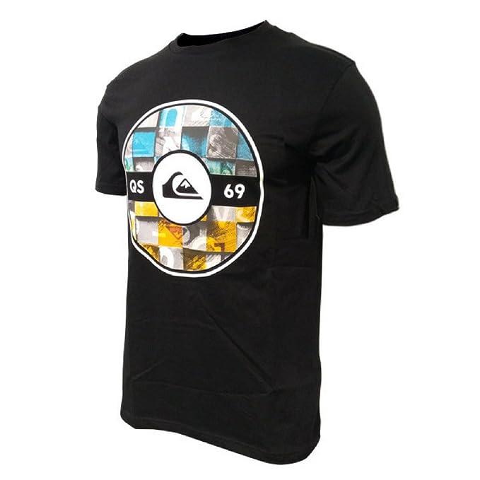 Quiksilver Fixed Woodblock- Camiseta Casual Hombre (XL, Negro)