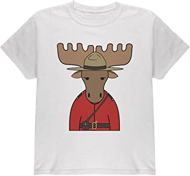 Old Glory Canada Day Moose Mountie Police Soft Baby One Piece