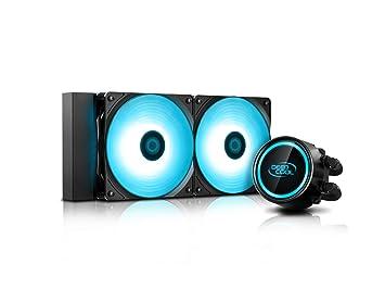 DEEPCOOL Gammaxx L240 V2, AIO Liquid CPU Cooler, Anti-Leak Technology  Inside, SYNC RGB Waterblock and RGB Fans, Motherboard Control, No Wired