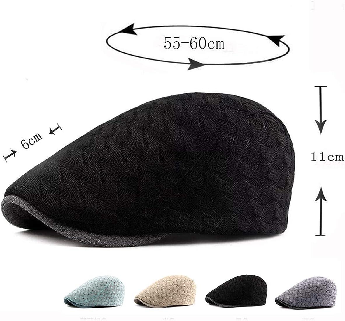 Schieberm/ütze Flatcap Herren Sommer Schirmm/ützen Atmungsaktive irisch Baskenm/ütze Kappe Cabbie Hut