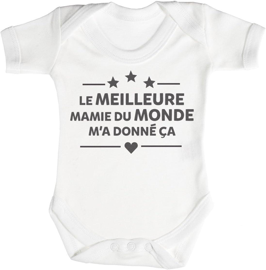 TRS Body B/éb/é 100/% Coton Le Meilleure Mamie du Monde