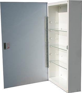 American Pride Deerfield Single Door Medicine Cabinet Wood Frame Mirror,  16u0026quot; X 27u0026quot;