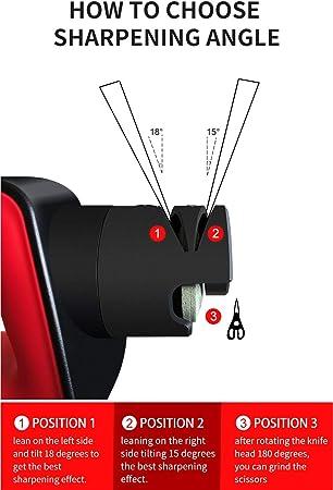 Afilador de Cuchillos electrico muela Japonesa Cabeza rotativa valido para Cuchillo Tijeras Destornillador afilador Cuchillos Profesionales Cuchillo Jamon Cuchillos Cocina