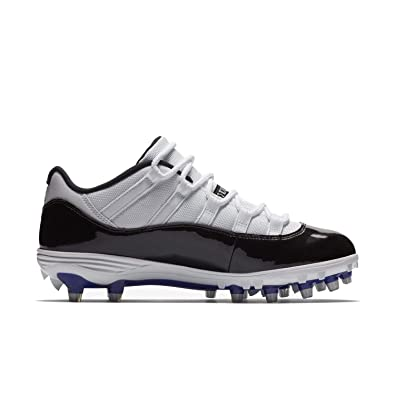 ab35a1aeba2e0d Nike Mens Air Jordan XI 11 Retro Low TD Football Cleats White Black Concord