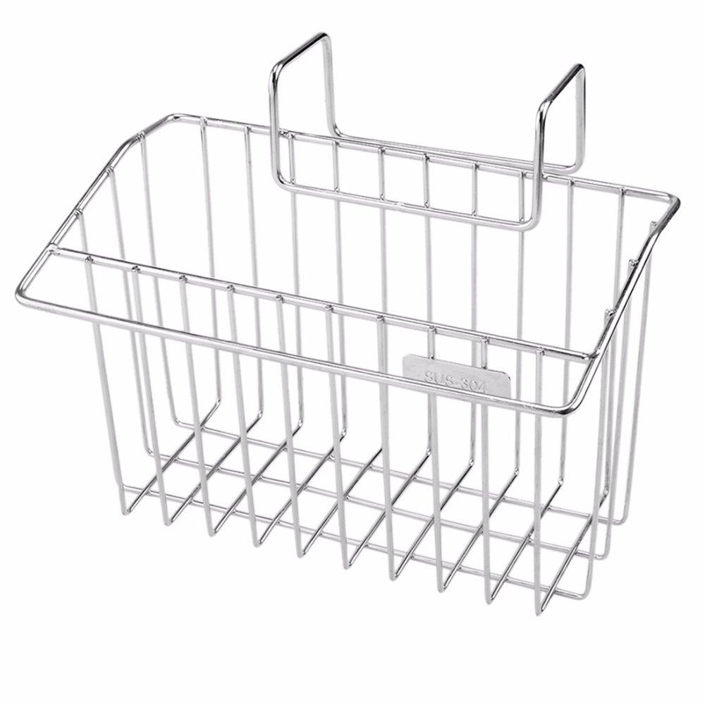 AIYoo 304 Stainless Steel Sponge Holder, Kitchen Sink Caddy Organizer Brush Soap Dishwashing Liquid Drainer Rack,Countertop Sponge Storage Rack 7.8x4.4x4.7Inch