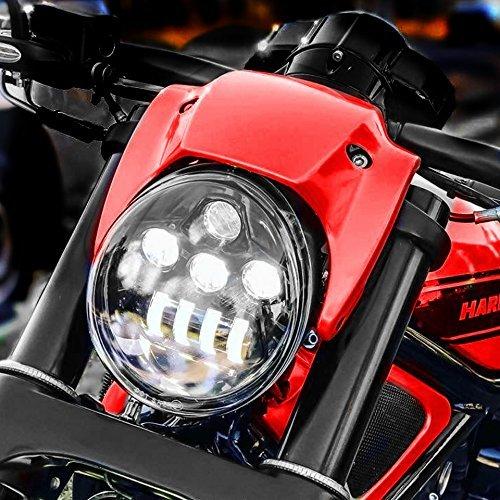 (Eagle Lights V-Rod LED Projection Headlight for Harley Davidson 2002-2016 V-Rod models (Black))