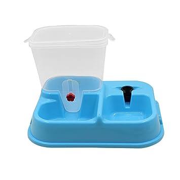 Dooret Dispensador automático de comederos para Mascotas, dispensador de Agua para Gatos Comedero automático de Líquidos para Fuentes alimentables para ...