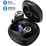 Mpow True Wireless earbuds,5.0 Bluetooth Earbuds,True wireless headphones with Charging Case and Mic,earbuds waterproof for sports,Single/Stereo Mode,tws wireless earbuds for iphone,samsung,Huawei