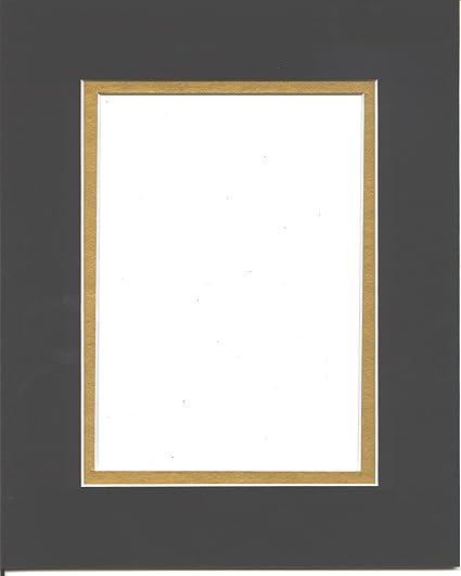 Amazon.com: 20x24 Black & Gold Double Picture Mats Bevel Cut for ...