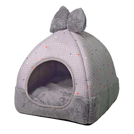 LVAB Cama para Mascotas Nest Dual Use Lavable Plegable Suave Cálido Desmontable Cojín para Perro Gato