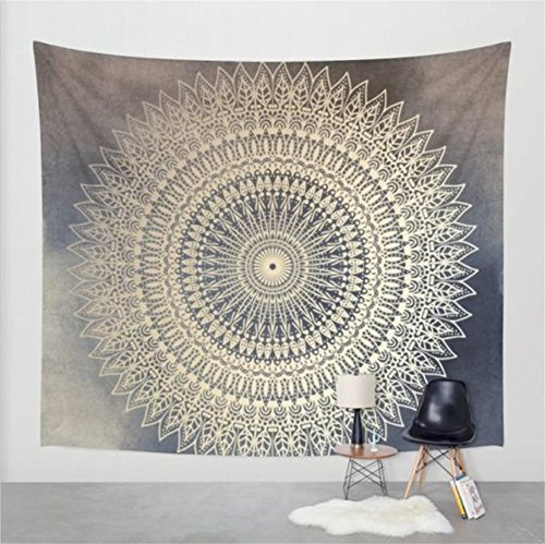 Boho Psychedelic Elephant Tree of Life Floral Tapestry Hippy Mandala Gypsy Wall Hanging Sheet Coverlet Picnic blanket Bedspread Curtain Decor Table Couch Cover Beach Yoga Throw L HY1