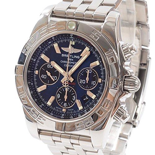 [ブライトリング]BREITLING 腕時計 クロノマット44 A011C89PA 中古[1307846]ブルー 付属:国際保証書 ボックス COSC B07FF1RCZC