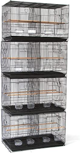 Flyline Lot of 4 Breeding Bird Carrier Cage with Dividor for Parakeet Canary Finch Loverbird