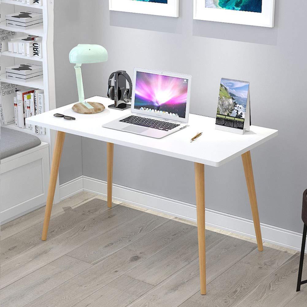 ホーム オフィス 大 コンピュータデスク,北欧 ラップトップ テーブル 引き出し付き,多目的 クリエイティブ 書斎デスク 無垢材の脚 ワークステーション-h 120x60x75cm(47x24x30inch) 120x60x75cm(47x24x30inch) H B07STDFP6G