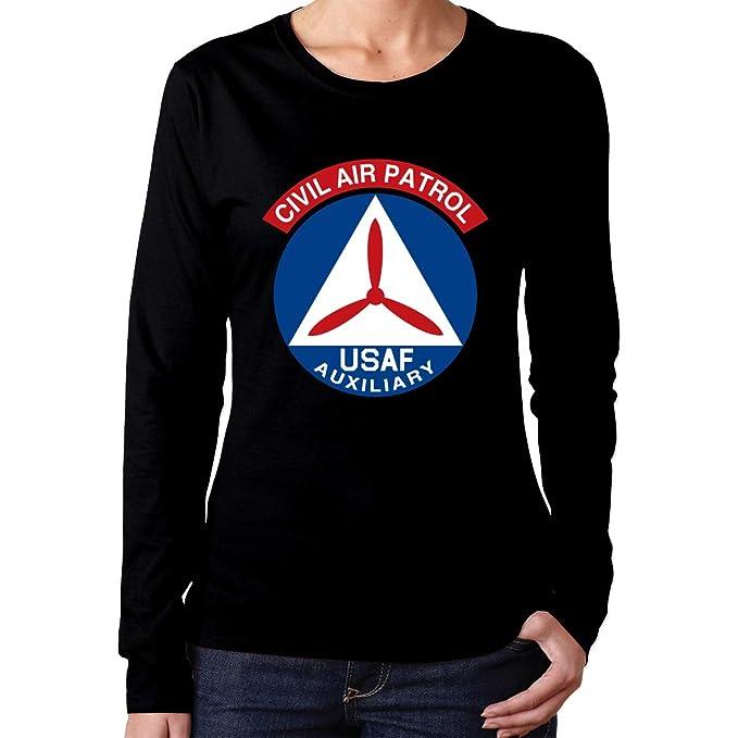 18f1da1da01 Amazon.com  Civil Air Patrol United States Air Force Auxiliary Women s Long  Sleeve T-Shirt Casual Cotton T-Shirt  Clothing
