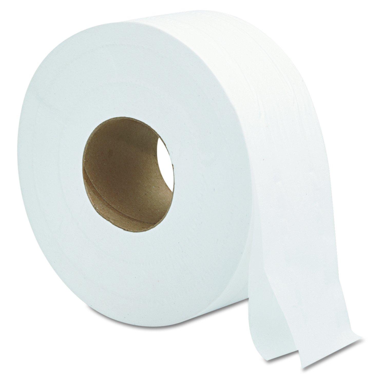 General Supply 9JUMBO Jumbo Roll Bath Tissue, 2-Ply, 9'', White (Case of 12)