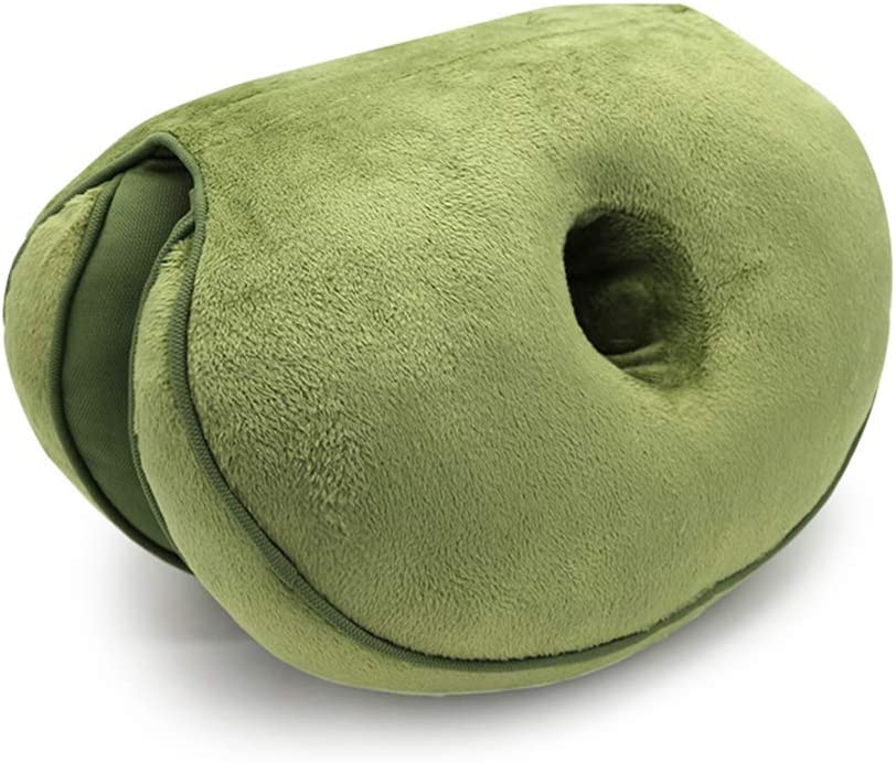 Cojín de doble confort Elevación de las caderas Cojín del asiento, cojines hermosos del asiento de las nalgas Cojín ortopédico para el alivio de la ciática del coxis de la parte baja de la espalda