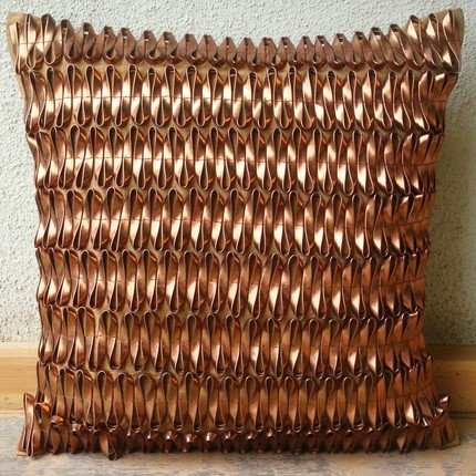 Luxury Metallic Rust Pillows Cover, 3D Metallic Pillowcases,