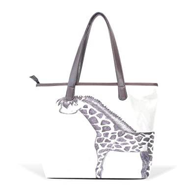 Amazon Com Ye Store Ballpoint Pen Draw Giraffe Lady Pu Leather