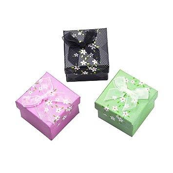 NBEADS - 24 Cajas pequeñas de cartón para joyería, Cajas de Embalaje de Regalo para
