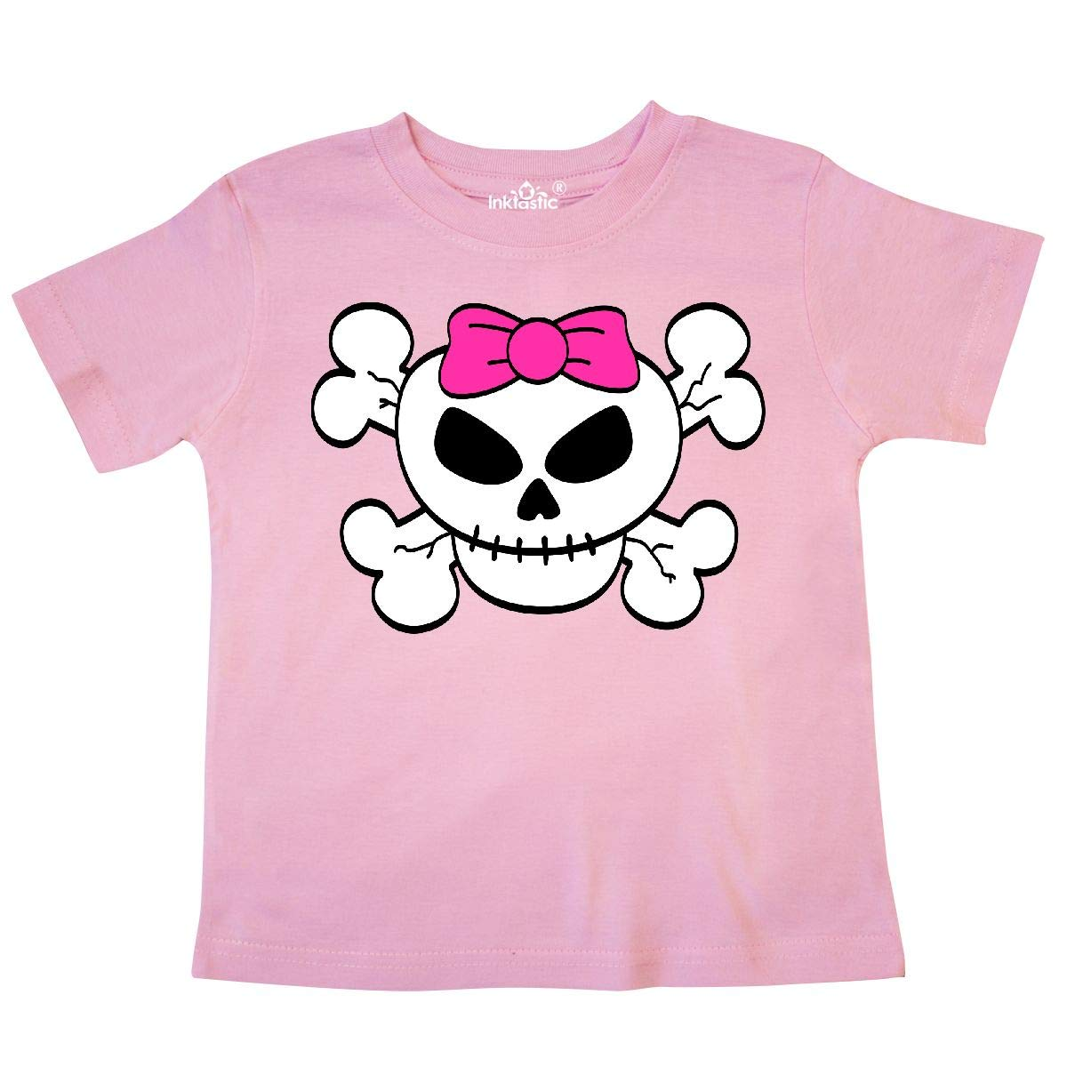inktastic Skull with Bow Toddler T-Shirt