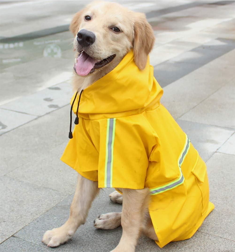 XXXXL Adjustable Waterproof Pet Dog Coat Windproof Safety Raincoat Breathable Rainwear clothes for Puppies Small Medium Large Dogs Pink Morezi Outdoor Pet Dog RainCoat