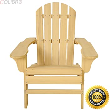 0b38d4d74149 COLIBROX--New Outdoor Natural Fir Wood Adirondack Chair Patio Lawn Deck Garden  Furniture. Roll over image to ...